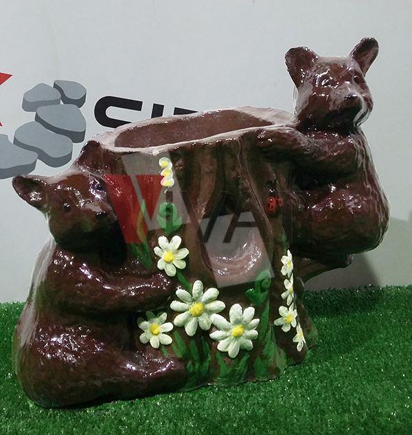 Мишка цветочник